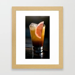 Cocktail drink with an orange Framed Art Print