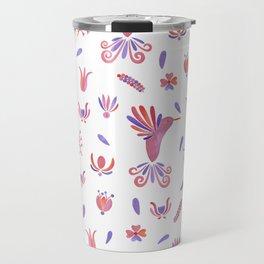 Mexican Folklore Pattern Travel Mug