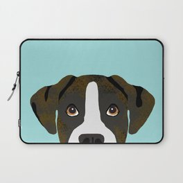 Brindle Boxer pet portrait cute dog lover rescue dog lover Boxer portrait dog breeds Laptop Sleeve