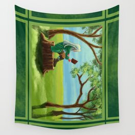 peacefully readings Wall Tapestry