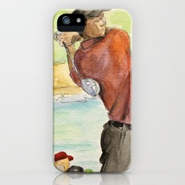 Tiger Woods_Professional golfer iPhone Case