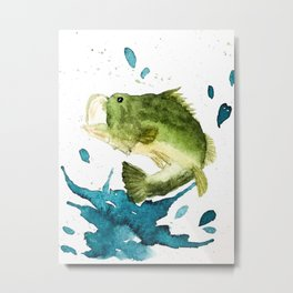 Bass Fishin' Metal Print