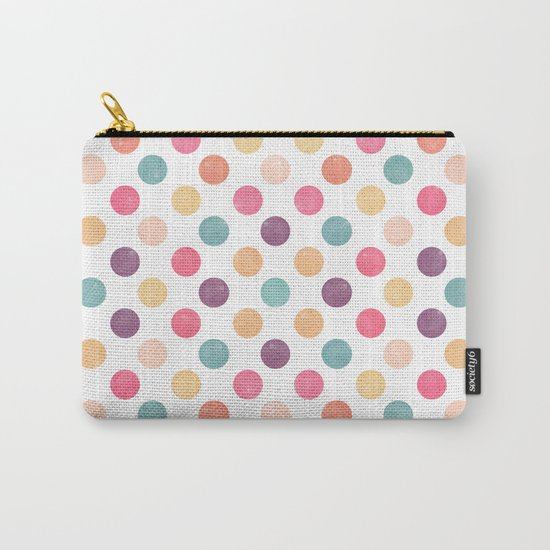 Watercolor Dots Pattern Carry-All Pouch