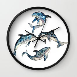 killer whale in space Wall Clock