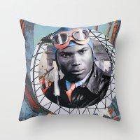 pilot Throw Pillows featuring Pilot by Jedi Master Schmidt