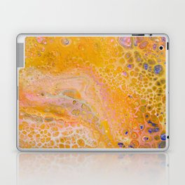 Abstract painting with warm colors, yellow, orange and pink Laptop & iPad Skin