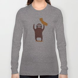 California State Sloth Long Sleeve T-shirt