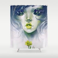 helen Shower Curtains featuring Quixotic by milyKnight