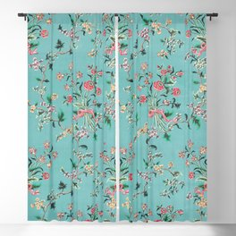 Length of painted silk mid-18th century Chinese Blackout Curtain