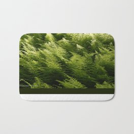 Light Magic in the Green Ferns Bath Mat