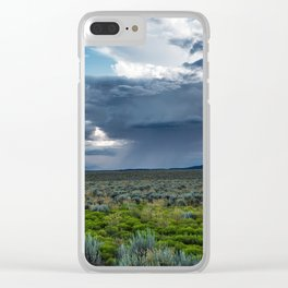 Desert Rain - Summer Thunderstorms Near Taos New Mexico Clear iPhone Case