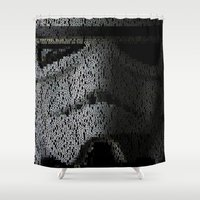 trooper Shower Curtains featuring Super Trooper by Robotic Ewe