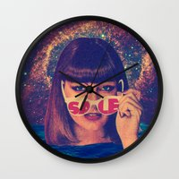 sale Wall Clocks featuring Sale! by Serra Kiziltas