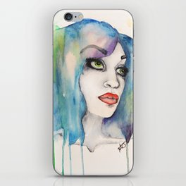 happily watercolored iPhone Skin