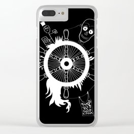 Dead eyes and rudder with spokes Clear iPhone Case