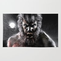 werewolf Area & Throw Rugs featuring Werewolf by Joe Roberts