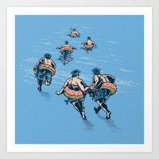 Cops Day Off Art Print