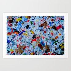 sugar bag collection  Art Print