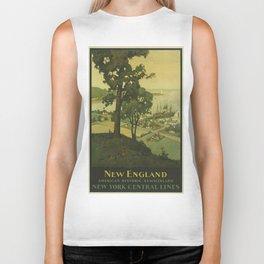 Vintage poster - New England Biker Tank