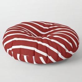 Red Velvet Diagonal Stripes Floor Pillow