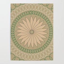 Kiwi inspired Pattern Poster