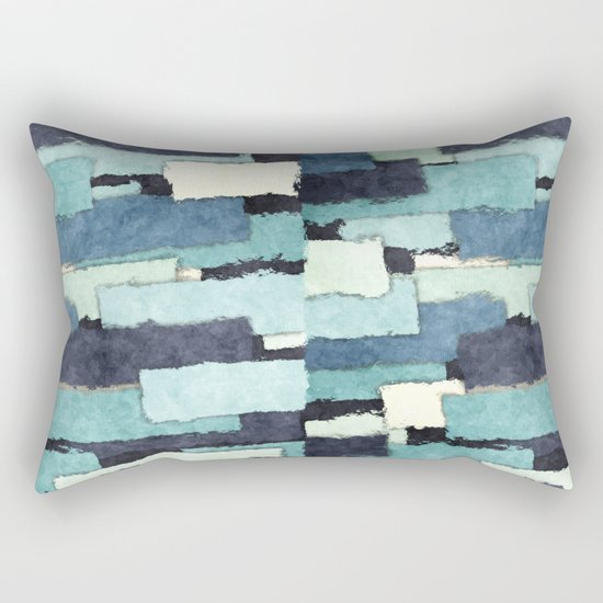 Layers of Colors Pattern Rectangular Pillow