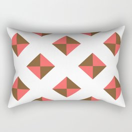 Chocolate Brown + Coral: Pattern No. 16 Rectangular Pillow