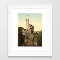 lichtenstein Framed Art Prints featuring Lichtenstein Castle by BravuraMedia