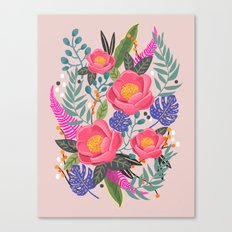 Romantic Blossom, flower print, floral print Canvas Print