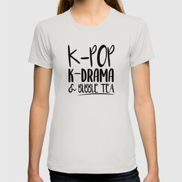 Kpop Kdrama Bubble Tea T-shirt
