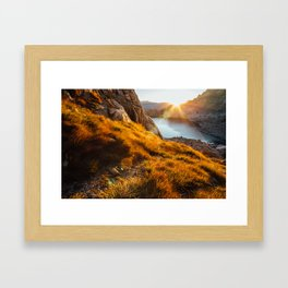 Golden Sunrise Framed Art Print
