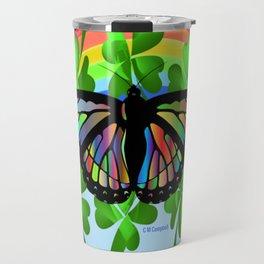 """""""Butterfly Luck"""" Travel Mug"""