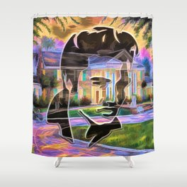 The King at Home Shower Curtain