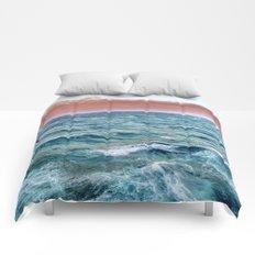 Brave ocean. vintage.  Windy high sea Comforters