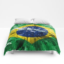 Extruded flag of Brazil Comforters