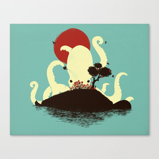 Octopus's Garden Canvas Print