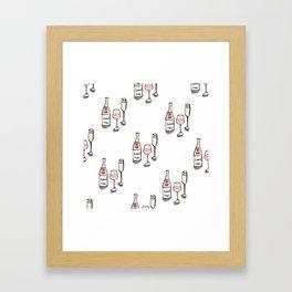 PATTERN II Rosé & Sparkling Wine Framed Art Print