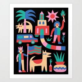 SUMMER FIESTA Art Print