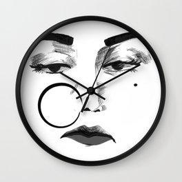Noor Jehan BW Wall Clock