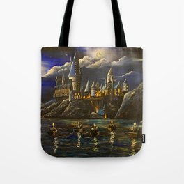 Castel at Starry night Tote Bag