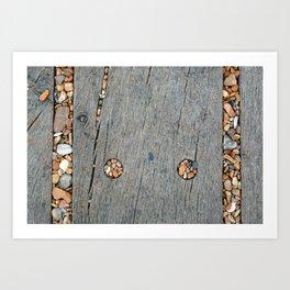 Beach Pebble Abstract Art Print