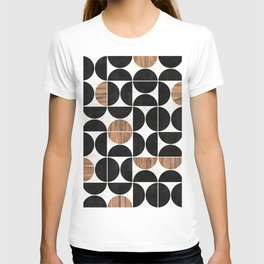 Mid-Century Modern Pattern No.1 - Concrete and Wood T-shirt