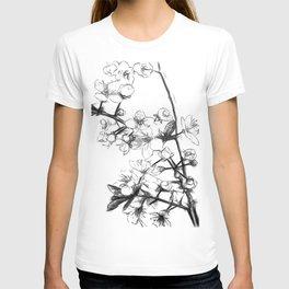 Cherry Blossoms Minimal Drawing T-shirt