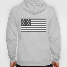 Black and White US Flag, High Quality Image Hoody