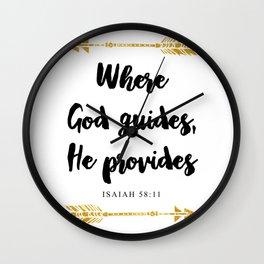 Isaiah 58:11 Christian Bible Verse Wall Clock