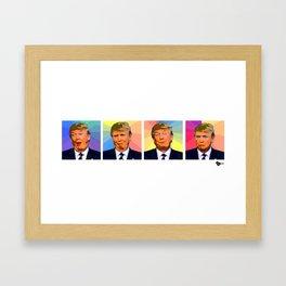 Fruity Faces Donald Trump Framed Art Print