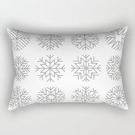minimalist snow flakes Rectangular Pillow