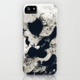 High Contrast Black and White Snowballs iPhone Case