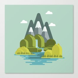 The nice valley Canvas Print