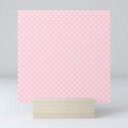 Large Light Soft Pastel Pink Love Hearts Mini Art Print